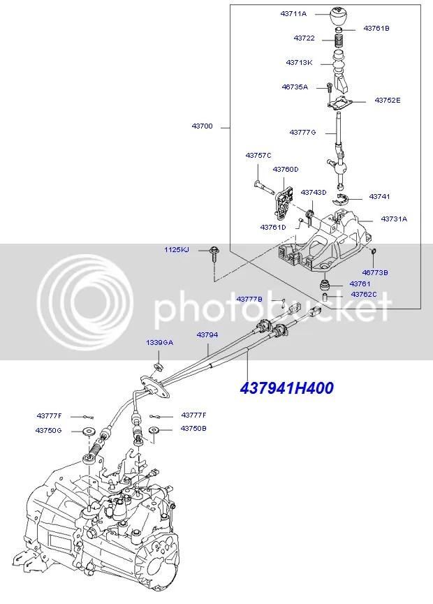 KIA Ceed Cee'D Hyundai i30 Gear Box Linkage Selector