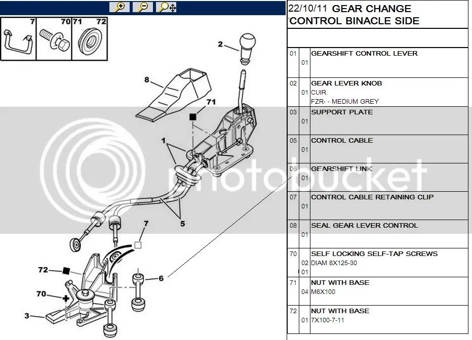 Citroen C2 C4 Picasso Peugeot 307 308 5008 Gear Lever