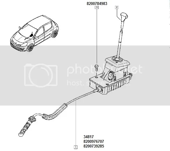 Renault Clio III Gear Cable Automatic Gearbox 8200976707