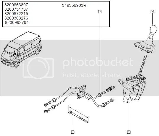 RENAULT MASTER OPEL MOVANO NISSAN GEAR LINKAGE CABLE