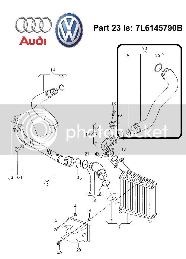 VW Touareg 2.5 TDI Audi Q7 3.0 TDI 7L6145790B Turbo