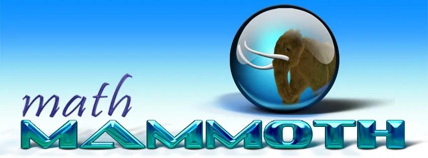 Affordable Quality Math {Math Mammoth }