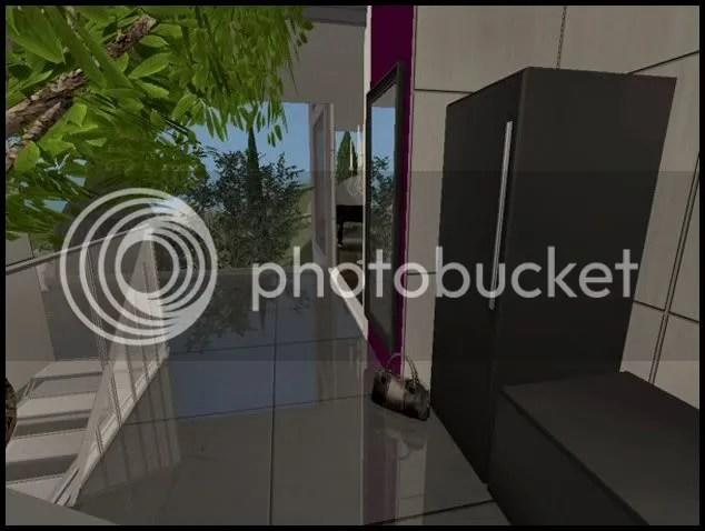 Kleine Steinwnde Im Eingangsbereich  Wohndesign