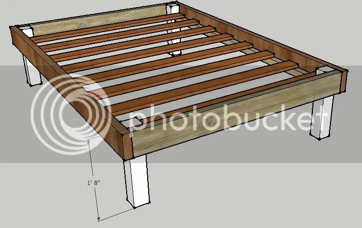 bed frame plans woodworking