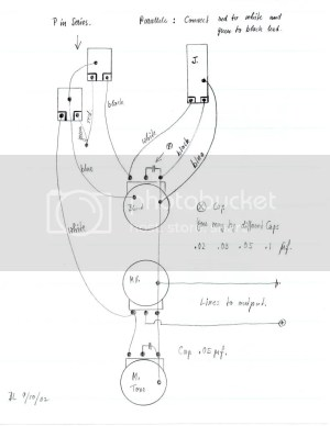 Bill Lawrence Jbass diagram | GuitarNutz 2