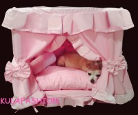 Gorgeous Handmade Princess Pet Dog Cat Bed House + 1 Candy