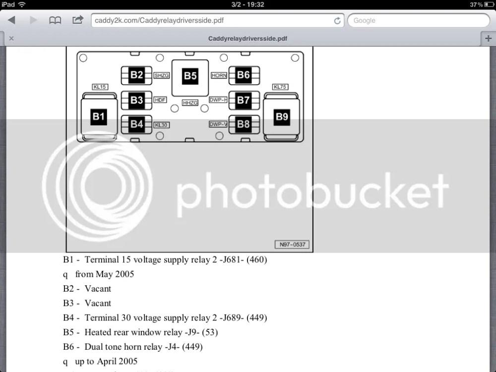 medium resolution of vw caddy fuse box 2012