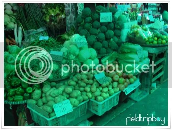 Fresh Vegetables in Baguio City