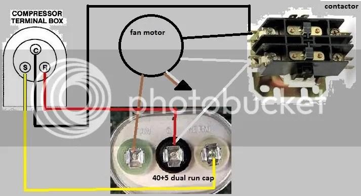 capacitor start motor wiring diagram craftsman klf 300 bayou air compressor diagrams schematic fan click