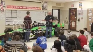 Andretti Autosport Visits Riverside Jr High