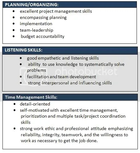 SAMPLE Wording Suggestions For Soft Skills Students