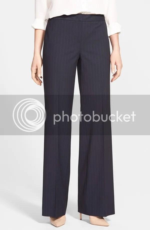 como pinstripe wide leg suit trousers (classiques entier)