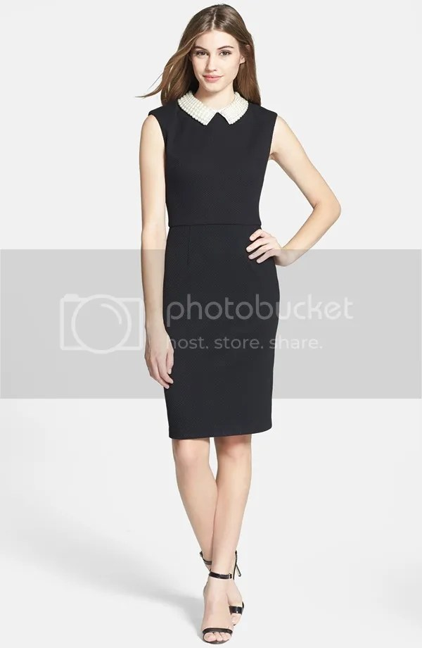 faux pearl sheath collar dress (betsey johnson)