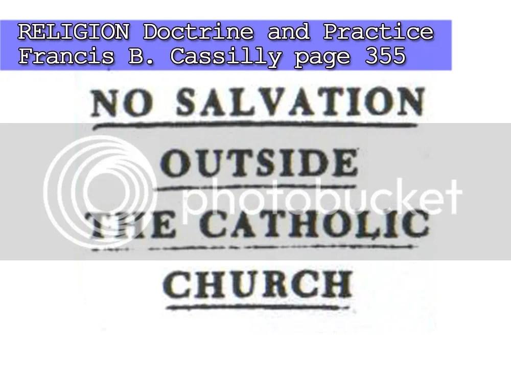 Salvation Outside the True Church | esoriano