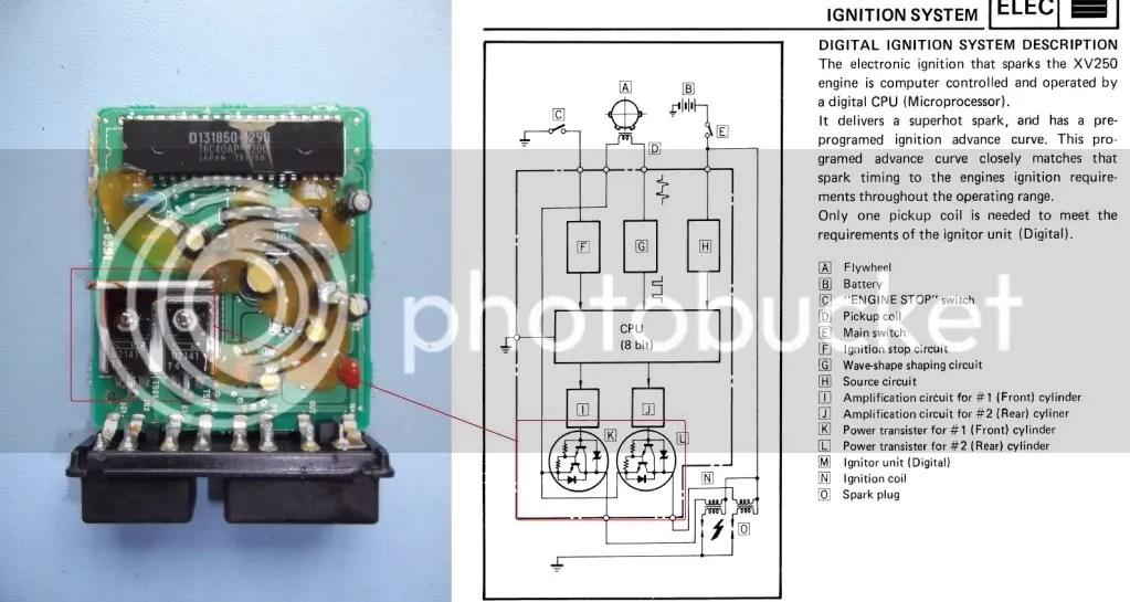 diode wiring diagram 1988 jeep wrangler virago xv 125 cdi unit repair - yamaha customs owners club