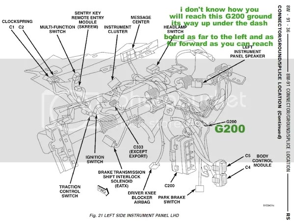 Cluster 2004 Chrysler Pacifica Fuse Box Diagram • Wiring