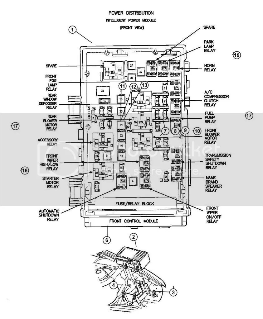 2004 Chrysler Pacifica Fuse Box Diagram On, 2004, Free