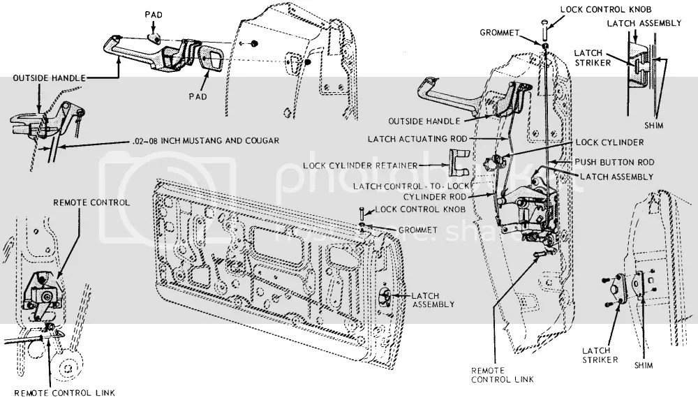 66 Mustang Door Latch Diagram, 66, Free Engine Image For