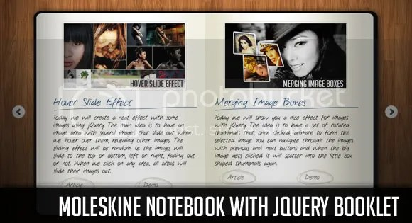 Notebook with jQuery Booklet
