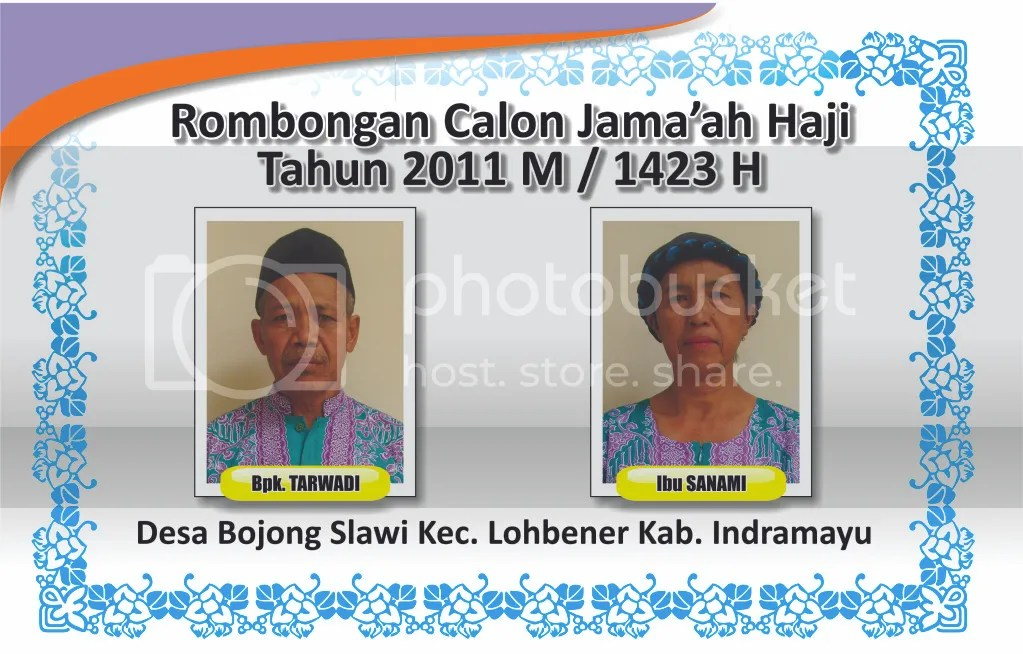 Stiker atau Brosur Jamaah Haji