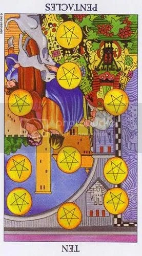 Ten of Pentacles reversed