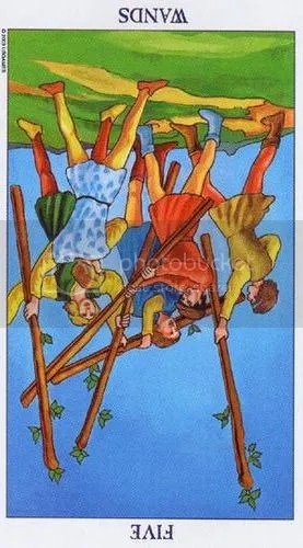 Virgo - Five of Wands reversed