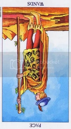 Radiant Rider-Waite Page of Wands Reversed