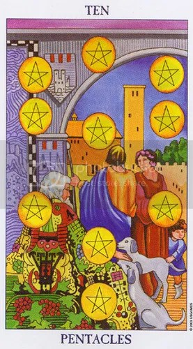 Aries - Ten of Pentacles