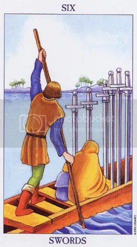 Leo - Six of Swords