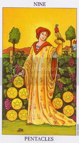 Aquarius - Nine of Pentacles