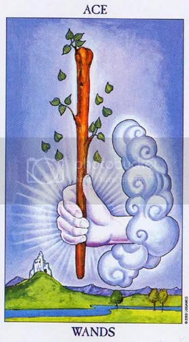 Radiant Rider-Waite Ace of Wands