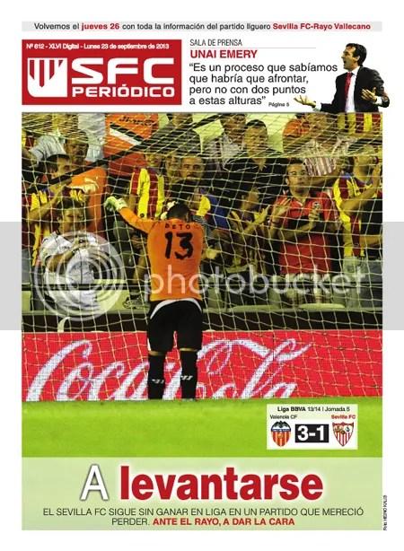 SFC Periódico 23.09.13 Valencia 3 Sevilla 1