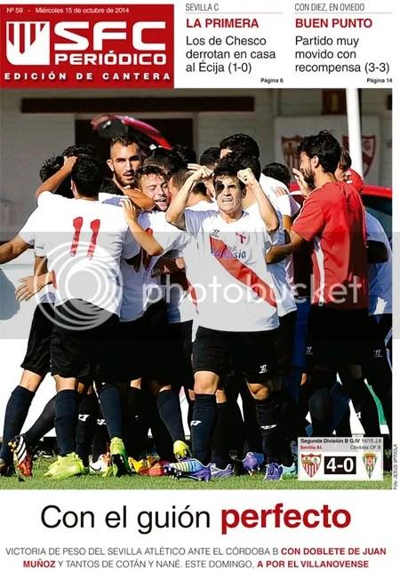 2014-10 (15) SFC Periódico Ed.Cantera Sevilla Atlético 4 Córdoba B 0