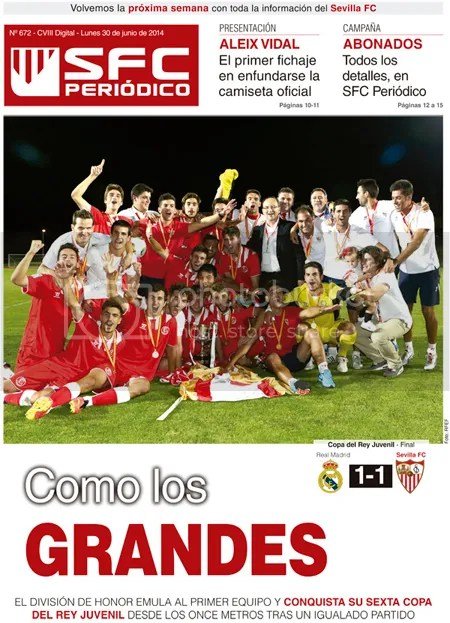 2014-06 (30) SFC Periódico Real Madrid 1 Sevilla 1 Como los GRANDES