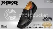 Sepatu Pria OVAL 6505 Hitam