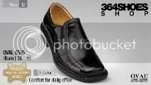 Sepatu Pria OVAL 6510 Hitam