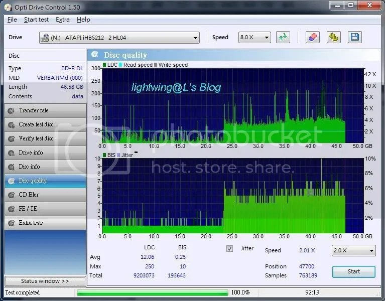 [測試] Pioneer BD Drive Utility簡單測試 - 看板 CD-R - 批踢踢實業坊