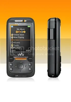 Sony Ericsson W850i with front and side view