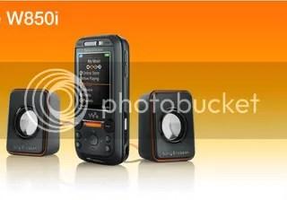Sony Ericsson W850i with Speakers