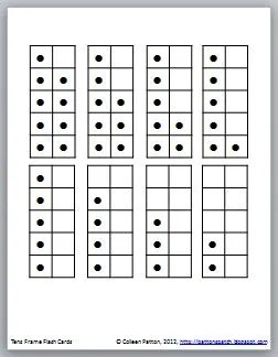Mrs. Patton's Patch: Tens Frame Flash Cards Freebie!