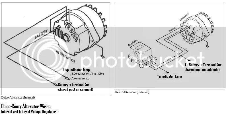 Delco generator kopplingsschema