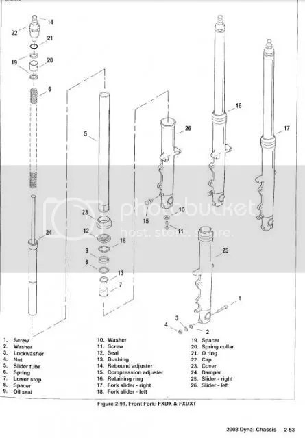 Harley Sportster Fork Diagram. Parts. Auto Parts Catalog