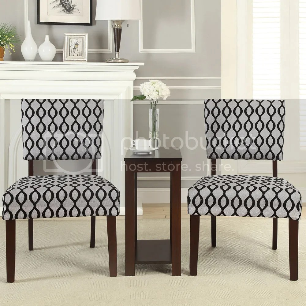 3 Pieces Occasional Accent Chair and Side Table Set Fabric