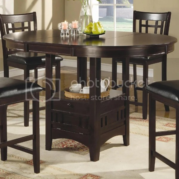 Counter Height Pub Table with Storage