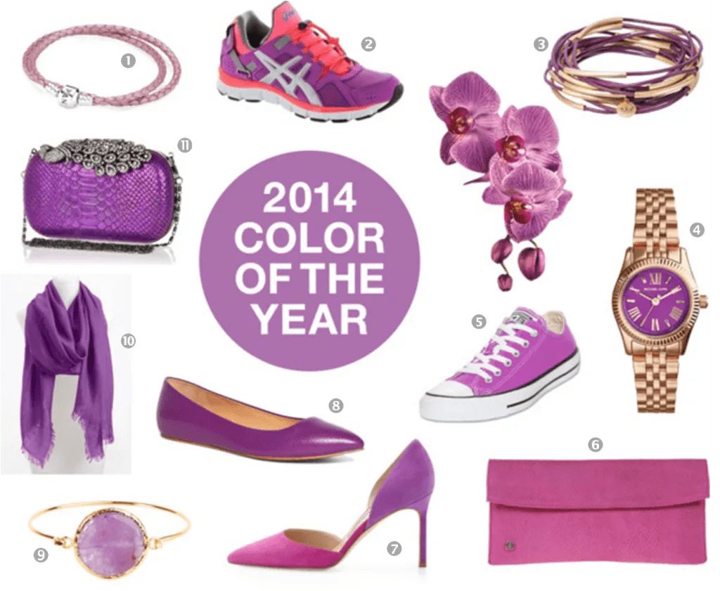 radiant orchid style inspiration accessories