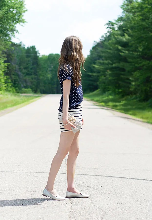 Laura Wears  |  Pattern Mixing Polka Dots and Stripes