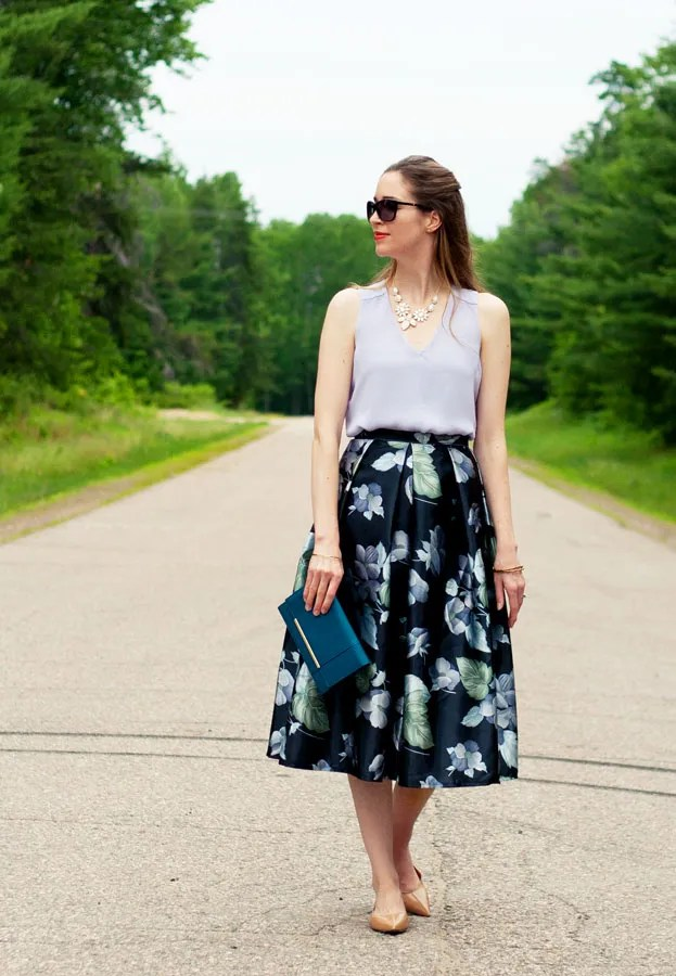 Laura Wears... diy homemade floral midi skirt