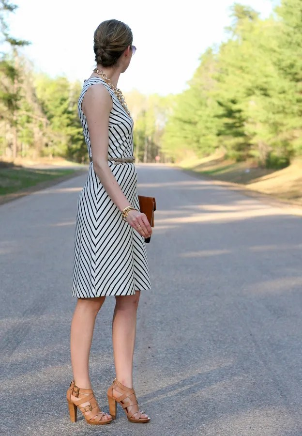stripe ponte dress workwear banana republic