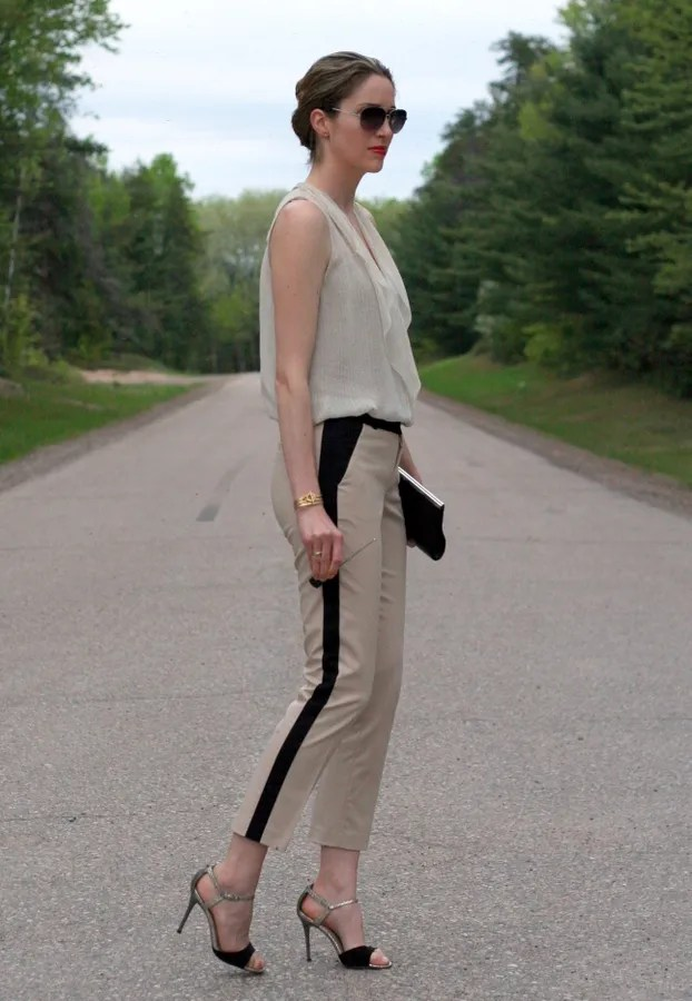 beige and black outfit personal style fashion blog