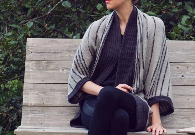 striped cocoon sweater